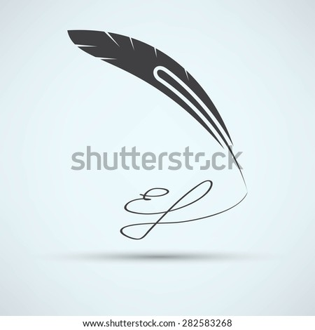 pen icon - stock photo