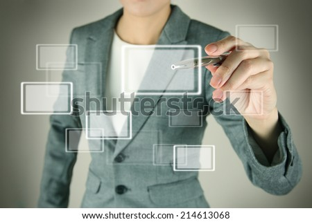 Pen Interface Touch - stock photo
