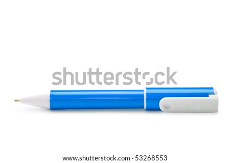 Pen isolated on the white background - stock photo