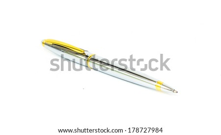 Pen isolated white background