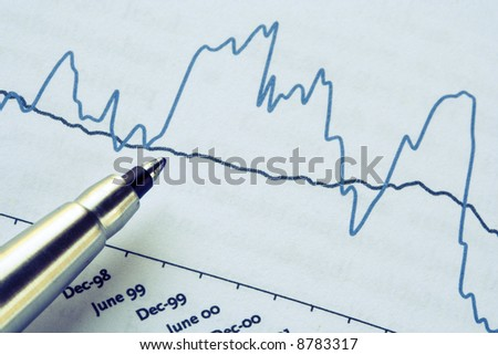 pen over a profit report (ideal as background)