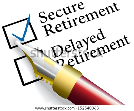 Pen to check choice of financial investments for secure not delayed retirement plan