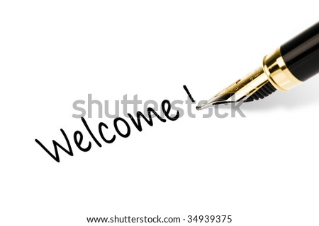pen writing - stock photo
