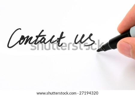 "Pen writing ""Contact Us"" - stock photo"