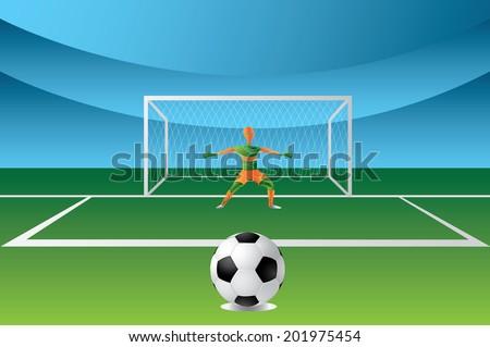 penalty area - stock photo