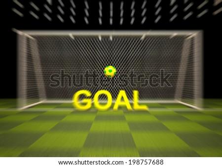Penalty area,Goal,Football,soccer, - stock photo