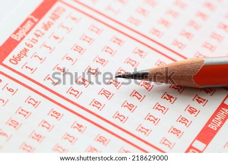 pencil and blank for lotteries - stock photo