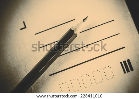 Pencil and letter without address