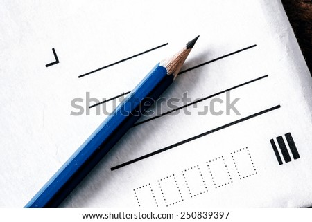 Pencil and letter without address - write address and send