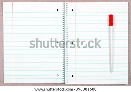 pencil and notebook on woods  - stock photo