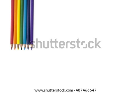 pencil background inline rainbow color
