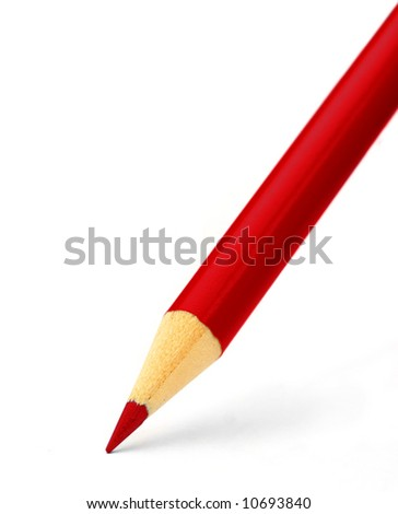 pencil close up on white