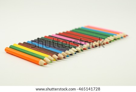 Pencil color isolated on white background