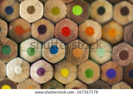 Pencil, colored, colour. - stock photo