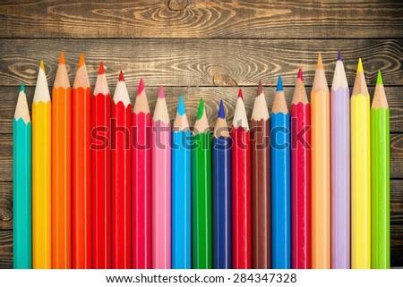 Pencil, colour, color. - stock photo
