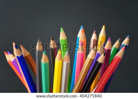 Pencil crayons - stock photo