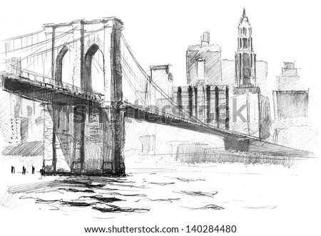 Bridge Drawing Stock Images Royalty Free Images Vectors