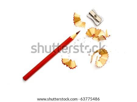 Pencil Eraser and pencil sharpener - stock photo