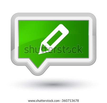 Pencil icon green banner button