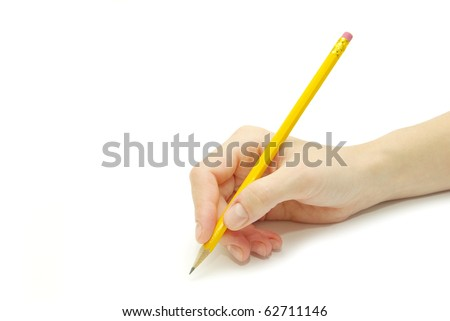 Pencil in hand - stock photo