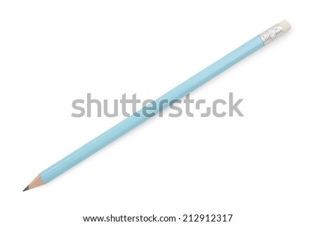pencil isolated on pure on white background,  file includes a excellent clipping path
