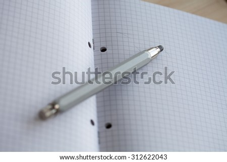pencil notebook drawing shot note for business and education