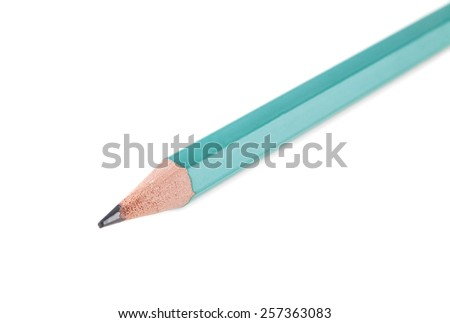 pencil on a white background