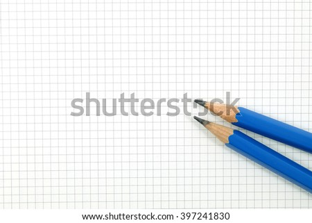 Drafting Paper Graph Paper Pencil Under Stock Photo 48110542 ...