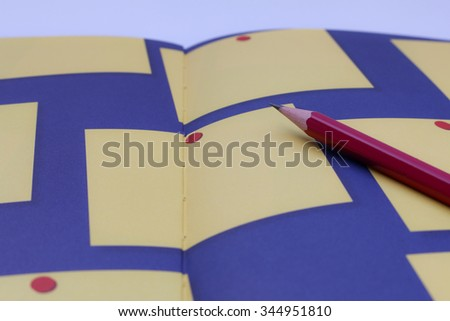 pencil on Note book   - stock photo