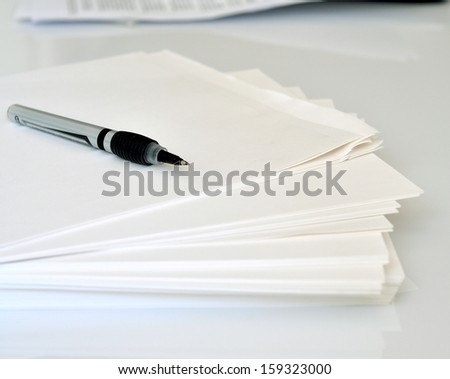 Pencil on Papers - stock photo