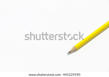 Pencil on the white background  - stock photo