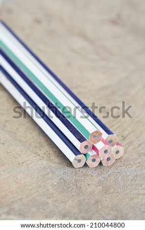 Pencil on wooden. - stock photo