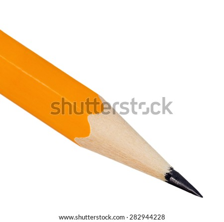 Pencil sharp object isolated on white background - stock photo
