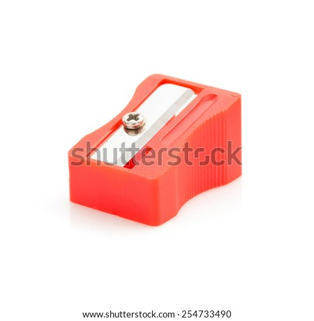pencil sharpener isolated on white background - stock photo