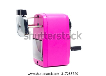 Pencil Sharpener on white background - stock photo