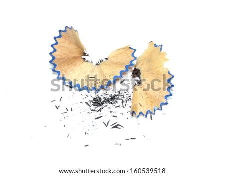 Pencil Shavings - stock photo