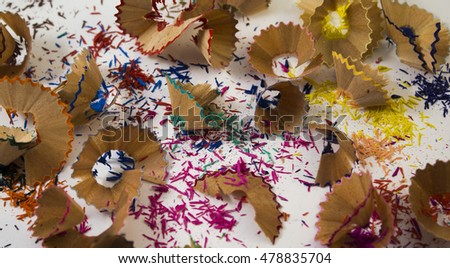 pencil shavings color background photo