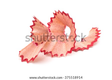 Pencil shavings. Red shavings.