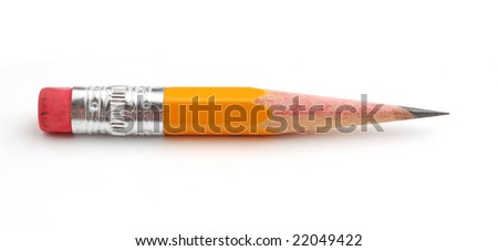 Pencil studio isolated on white background