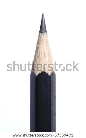pencil tip isolated on white background - stock photo