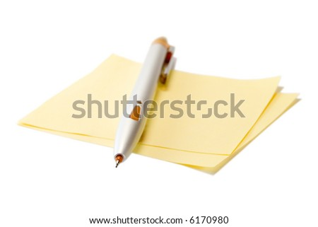 Pencil with sheet of paper on white background