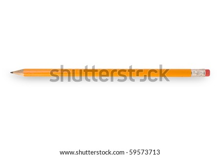 Pencil with white background