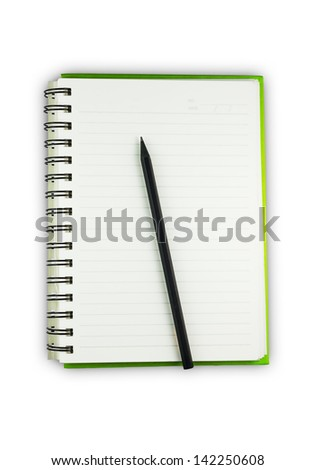 Pencile and notebook paper - stock photo