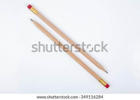 pencils isolated - stock photo