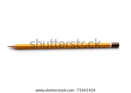pencils isolated on a white background. Studio. Picture.