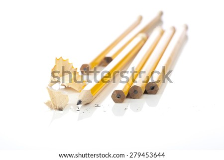 Pencils on a white background - stock photo