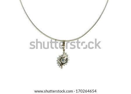 Pendant isolated on the white background - stock photo