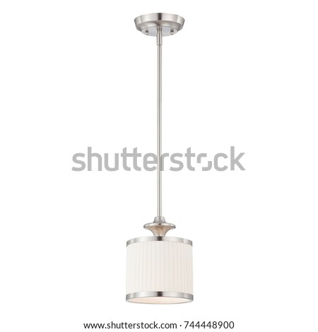 Pendant Light Isolated on White Background. Light Fixture. Chandelier Lighting. Ceiling Light L&  sc 1 st  Shutterstock & Glass Shade Ceiling Pendant Light Isolated Stock Photo 655650853 ... azcodes.com