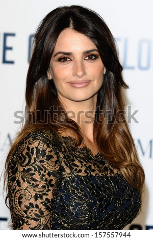 "Penelope Cruz arriving for the ""The Counselor"" Special Screening at the Odeon West End, Leicester Square, London. 03/10/2013 - stock photo"