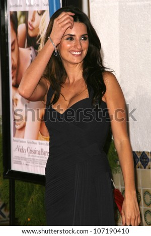 """Penelope Cruz  at the Los Angeles Premiere of """"Vicky Cristina Barcelona"""". Mann Village Theatre, Westwood, CA. 08-04-08 - stock photo"""